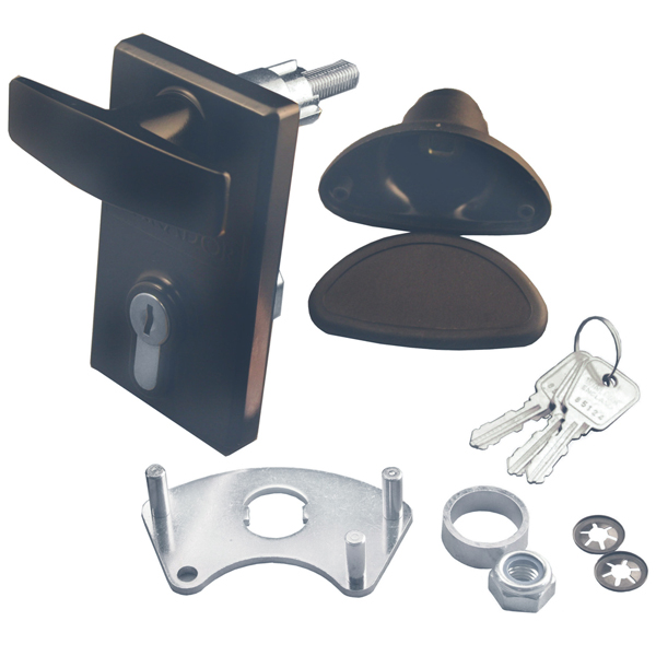 Euro Locking Garage Door Handle GARADOR GAR0130 75mm