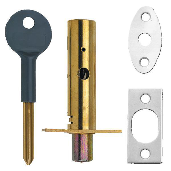 Door Security Bolt 2 Bolts, 1 Key in White Yale PM444