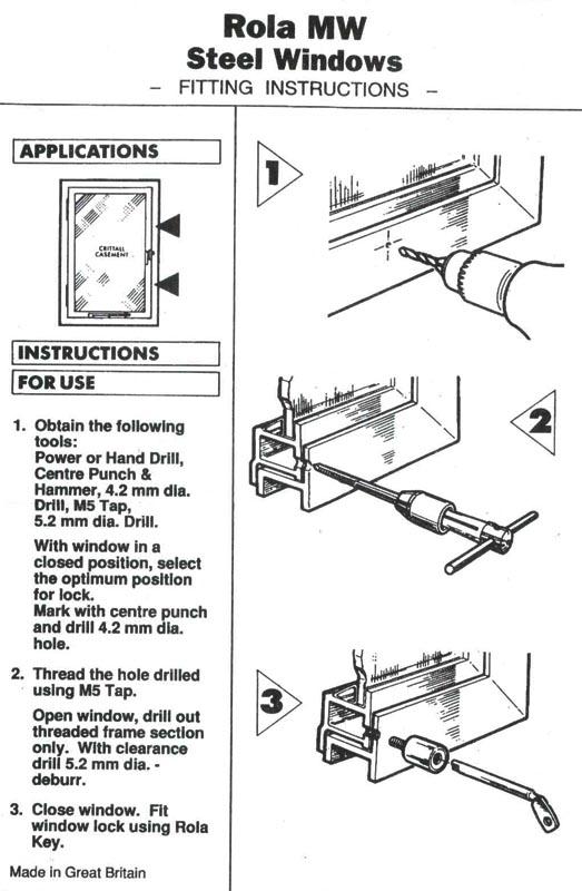 bramah r3 rola window stop fitting instructions