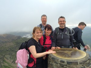 At the top of Snowdon