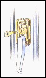 Casement Locks make it impossible to open windows without the correct key