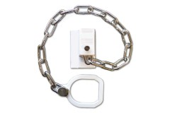 ASEC UPVC Door Chain Restrictor with Ring