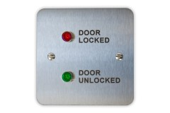 "Labelled ""Door Locked"" / ""Door Unlocked"" LED Indicator Light Panel"