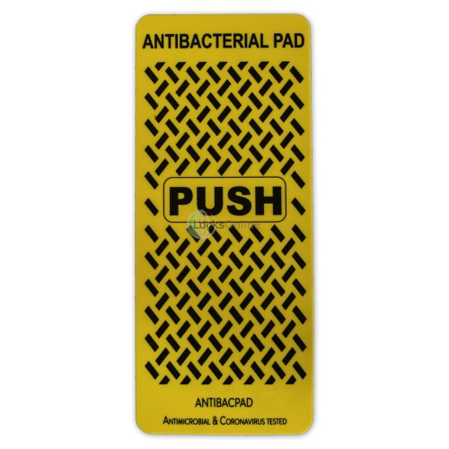 "Main photo of ""ANTIBACPAD"" Antimicrobial Door Push Pad / Fingerplate"
