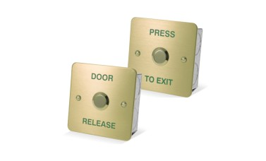 Asec Brass 1 Gang Exit Button