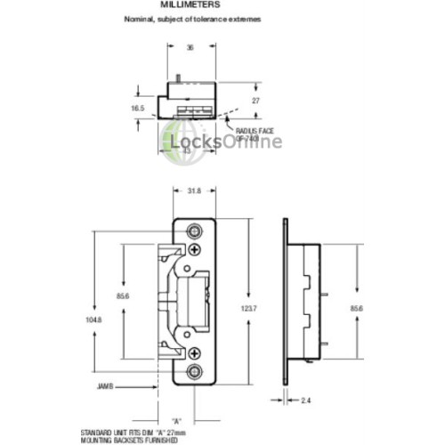 Adams Rite Ultraline Premium Electric Strike Release - Adams rite 7400 wiring diagram