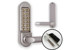 Borg 5009 Combination Lock (DDA Handles) + Mortice Nightlatch