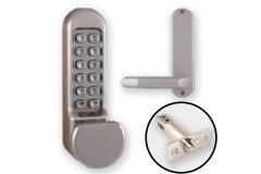 Borg 5101 Combination Lock (Flat Knob & Handle) + Latch