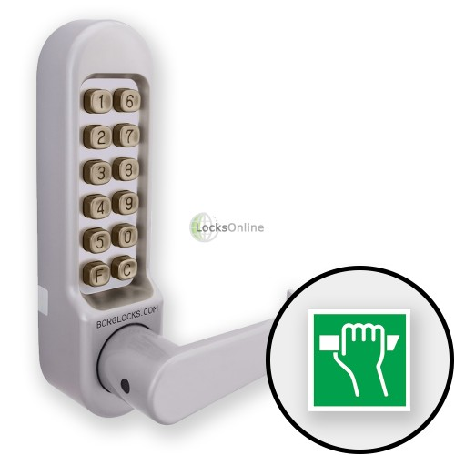 Main photo of Borg 5408 Combination Lock (Flat Handle) for use with Panic Hardware