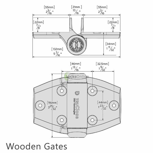 TruClose Self-Closing Gate Hinges