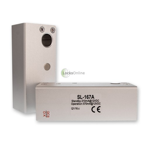 SL-167 Electric Solenoid Bolt Lock for Glass-to-Glass Doors