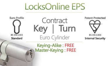 "LocksOnline EPS ""Contract"" Key & Thumbturn Euro Cylinder"
