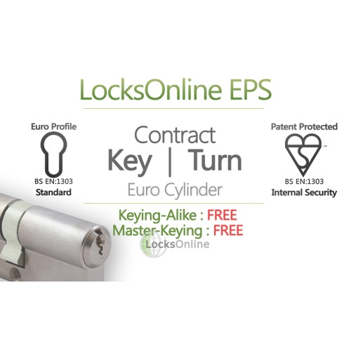 "Main photo of LocksOnline EPS ""Contract"" Key & Thumbturn Euro Cylinder"