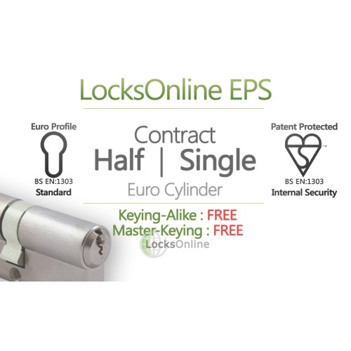 "Main photo of LocksOnline EPS ""Contract"" Single / Half Euro Cylinder"
