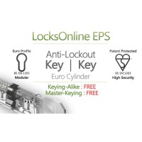 Locksonline EPS Key Security Euro Cylinders with Anti-Lockout