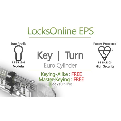 Main photo of Locksonline EPS Key and Turn Euro Cylinders
