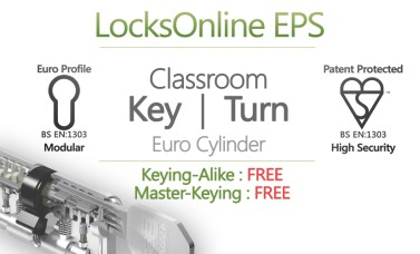"Locksonline EPS Key and Turn ""Classroom"" Euro Cylinders"