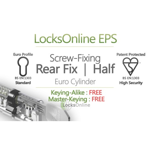 Main photo of LocksOnline EPS Rear-Fixed Euro Cylinder for Panic Hardware