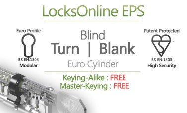"LocksOnline EPS ""Blind"" Turn Operated Euro Cylinder (Blank One Side)"