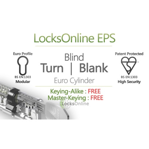 "Main photo of LocksOnline EPS ""Blind"" Turn Operated Euro Cylinder (Blank One Side)"