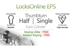 LocksOnline EPS Thumbturn Only Euro Cylinder