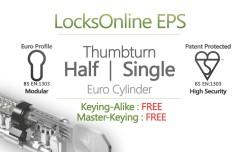 LocksOnline EPS Thumbturn Only Euro Cylinder
