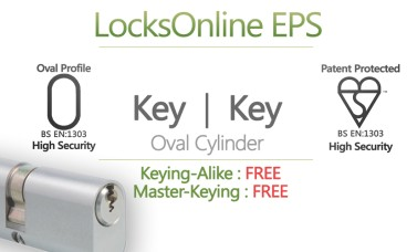Locksonline EPS Key Security Oval Cylinders