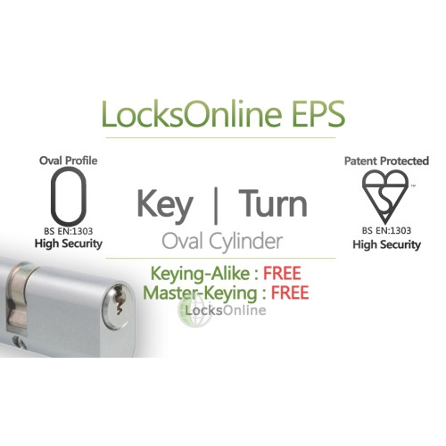 Main photo of Locksonline EPS Key and Turn Oval Cylinders