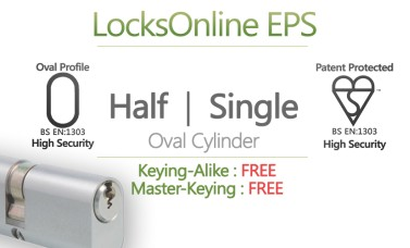 Locksonline EPS Single Oval Cylinders
