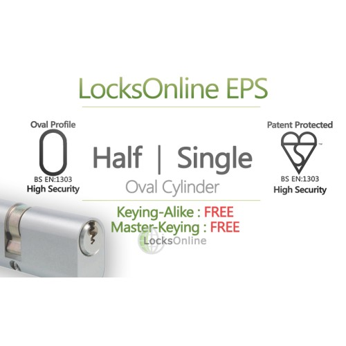 Main photo of Locksonline EPS Single Oval Cylinders