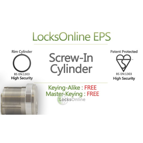 Main photo of Locksonline EPS Screw-In Threaded Rim Cylinders