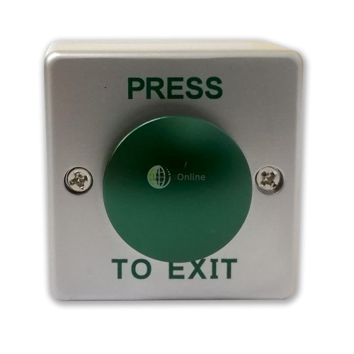 Mini Push-To-Exit Button For Narrow Frames & Posts