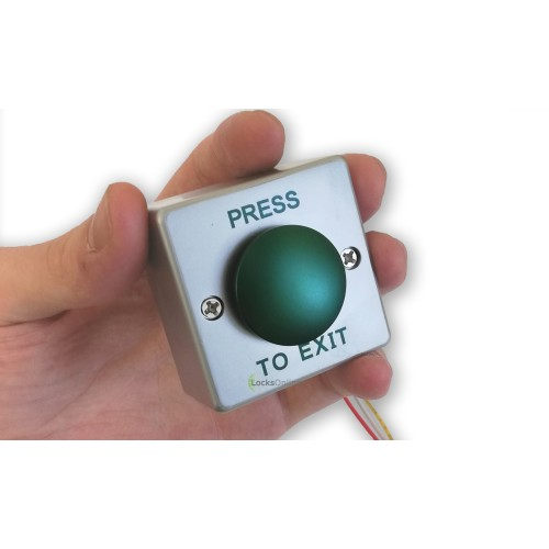 Main photo of Mini Push-To-Exit Button For Narrow Frames & Posts