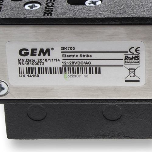 GEM GK700 Dual-Monitored Low-Profile Strike Release