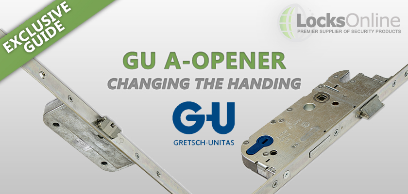How to change the handing of the GU A-Opener Multipoint Lock