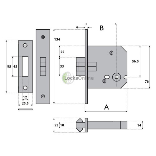 LocksOnline Imperial Sliding Bathroom Door Lock