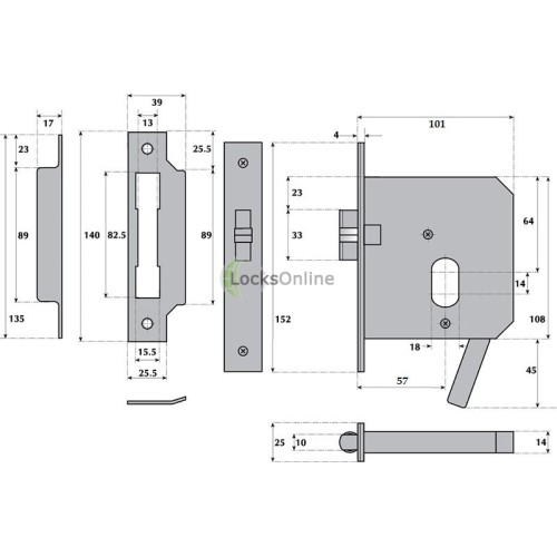 LocksOnline Imperial Lever-Operated Oval Profile Rollerbolt Escape Lock