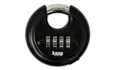 KASP Black Combination Disc Padlock