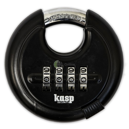 Main photo of KASP Black Combination Disc Padlock
