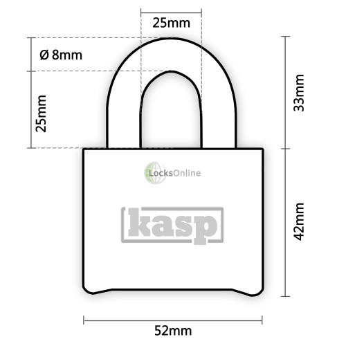 KASP Hardened Steel Combination Padlock