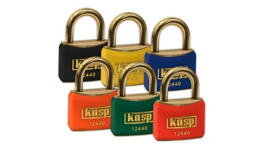 KASP Coloured Vinyl Anti-Spark Brass Padlocks