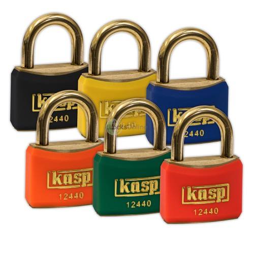 Main photo of KASP Coloured Vinyl Anti-Spark Brass Padlocks