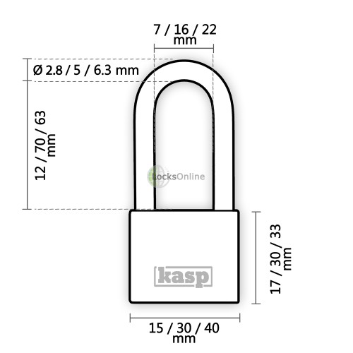 KASP Premium All-Brass Anti-Spark Padlocks