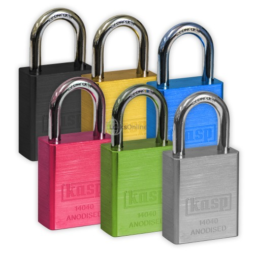 Main photo of KASP Coloured Solid Aluminium Padlocks