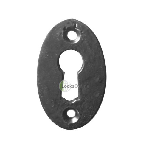 Main photo of LocksOnline Black Antique Oval Escutcheon