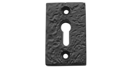 LocksOnline Black Antique Rectangular Escutcheon