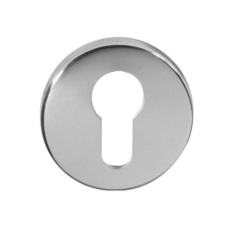 Main photo of LocksOnline Blank Euro Stainless Steel Keyhole Escutcheon