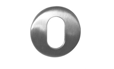 LocksOnline Blank Stainless Steel Oval Escutcheon