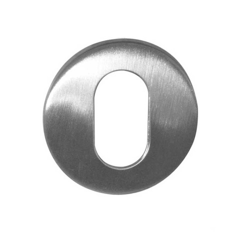 Main photo of LocksOnline Blank Stainless Steel Oval Escutcheon