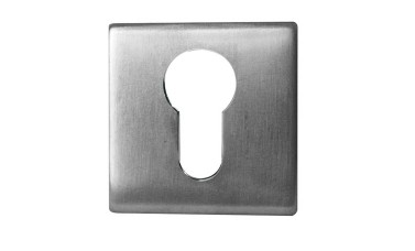 LocksOnline Square Euro Profile Stainless Steel Escutcheon
